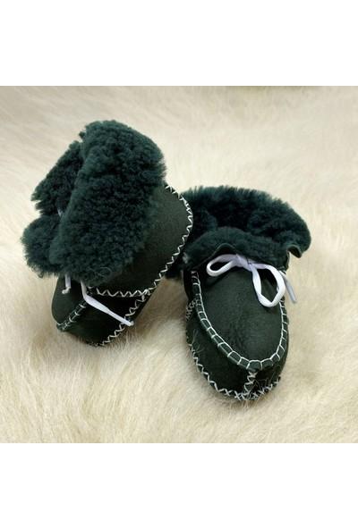 Pialetti Baby Yeşil Bebek Patiği Bağcıklı