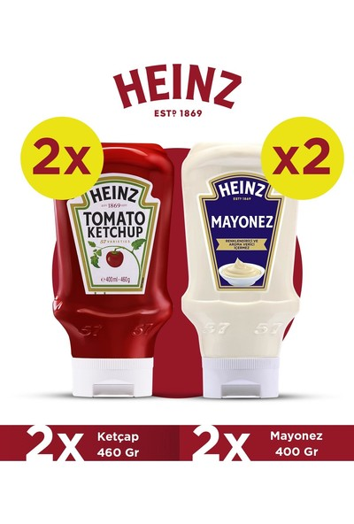 Heinz Ketçap 460 gr ve Mayonez 400 gr Fırsat Paketi (2 'li Ketçap 460 gr + 2 'li Mayonez 400 Gr)
