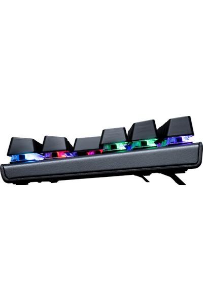 Rampage KB-R17 Raptor Siyah USB RGB Aydınlatmalı Oyuncu Q Mavi Anahtar Mekanik Klavye