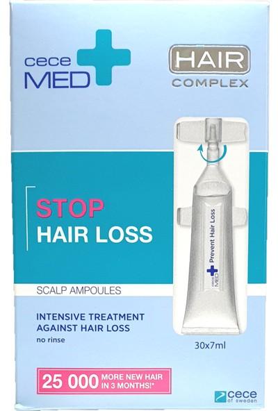 Cecemed Stop Hair Loss Scalp Ampoules Dökülme Karşıtı Ampül 30 Adet x 7 ml
