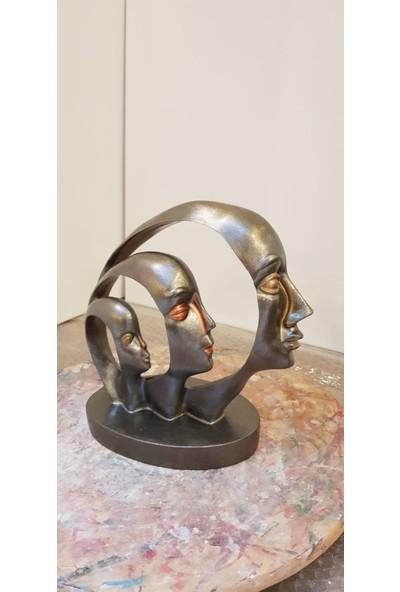 Lumier 3'lü Kadın Yüz Dekoratif Obje ( Boyanabilir - Dekor - Süs )