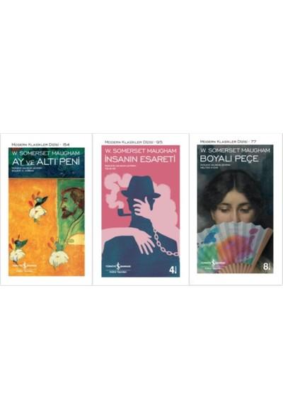 3 Kitap Set Boyalı Peçe - Ay ve Altı Peni - Insanın Esareti | W. Somerset Maugham
