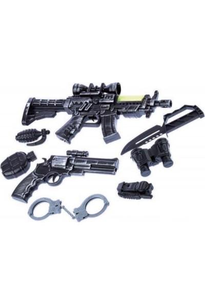 Liggo Çocuk Süper Polis Seti Taramalı Tüfek Seti 8 Parça