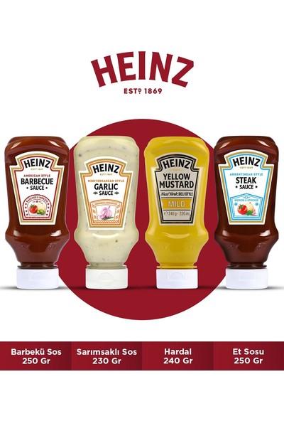 Heinz Dörtlü Sos Paketi (Barbekü Sos 250 gr + Sarımsaklı Sos 230 gr + Hardal 240 gr + Et Sosu 250 Gr)