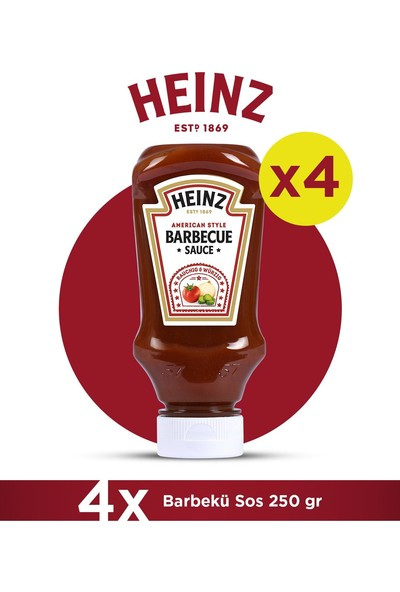 Heinz Barbekü Sos 250 gr - 4'lü Paket