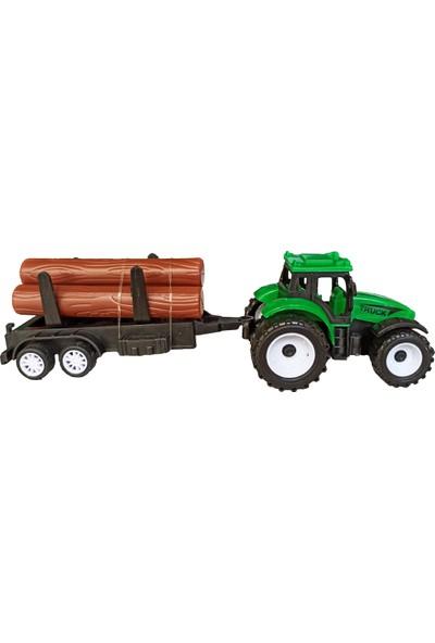 Oyuncak Traktör Seti Römorklu 2'li Çek Bırak Özellikli Traktör Seti