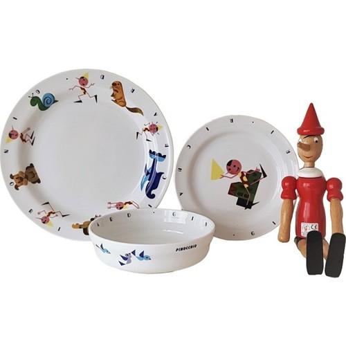 Richard Ginori 1735 Pinocchio Çocuk 3'lü Kahvaltı Seti