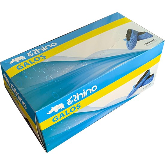 Rhino Tek Kullanımlık Mavi Galoş 100'LÜ Paket