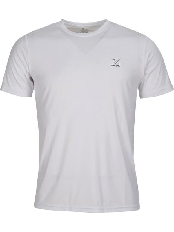Kinetix SN225 Pes C Neck T- Beyaz Erkek Kısa Kol T-Shirt