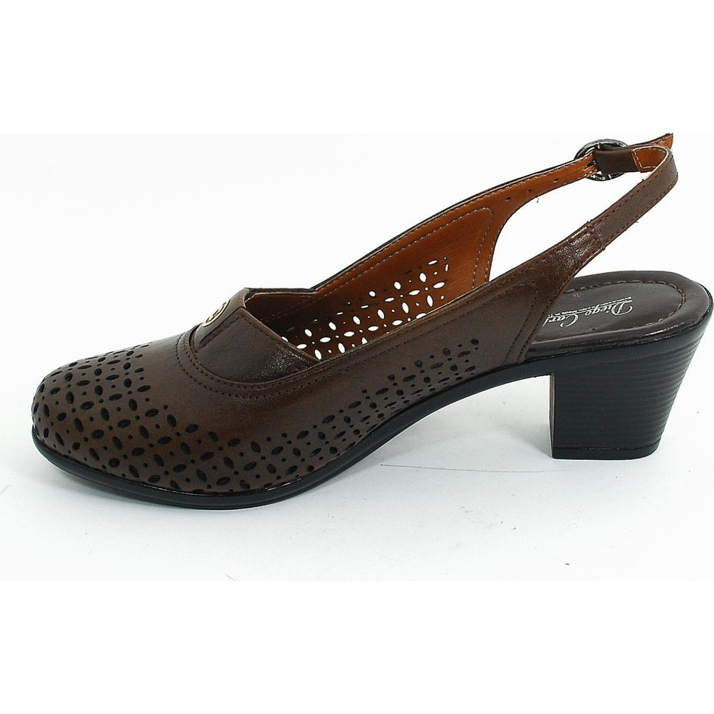 Diego Carlotti Kadın Günlük Deri Anne Ayakkabı-Kahve-113369-01