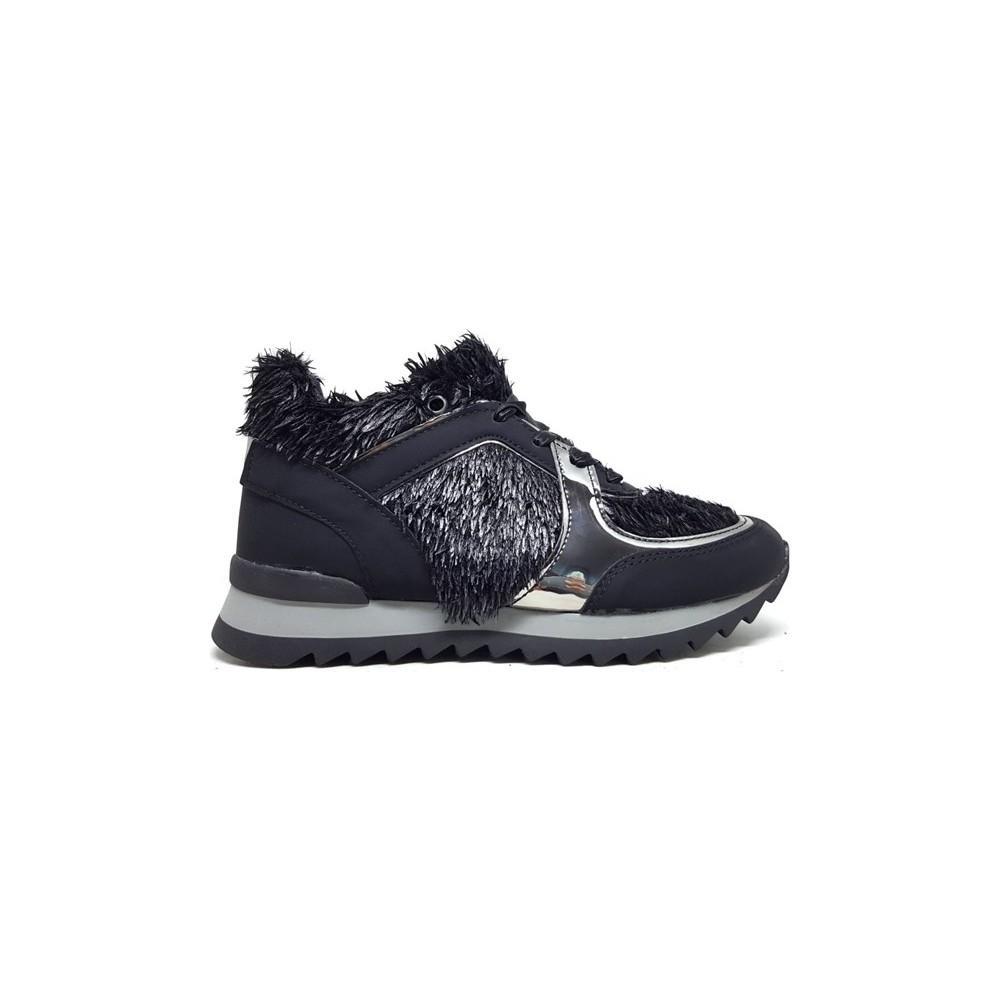 Shop And Shoes 066-6344 Kadın Ayakkabı Siyah Kirpi