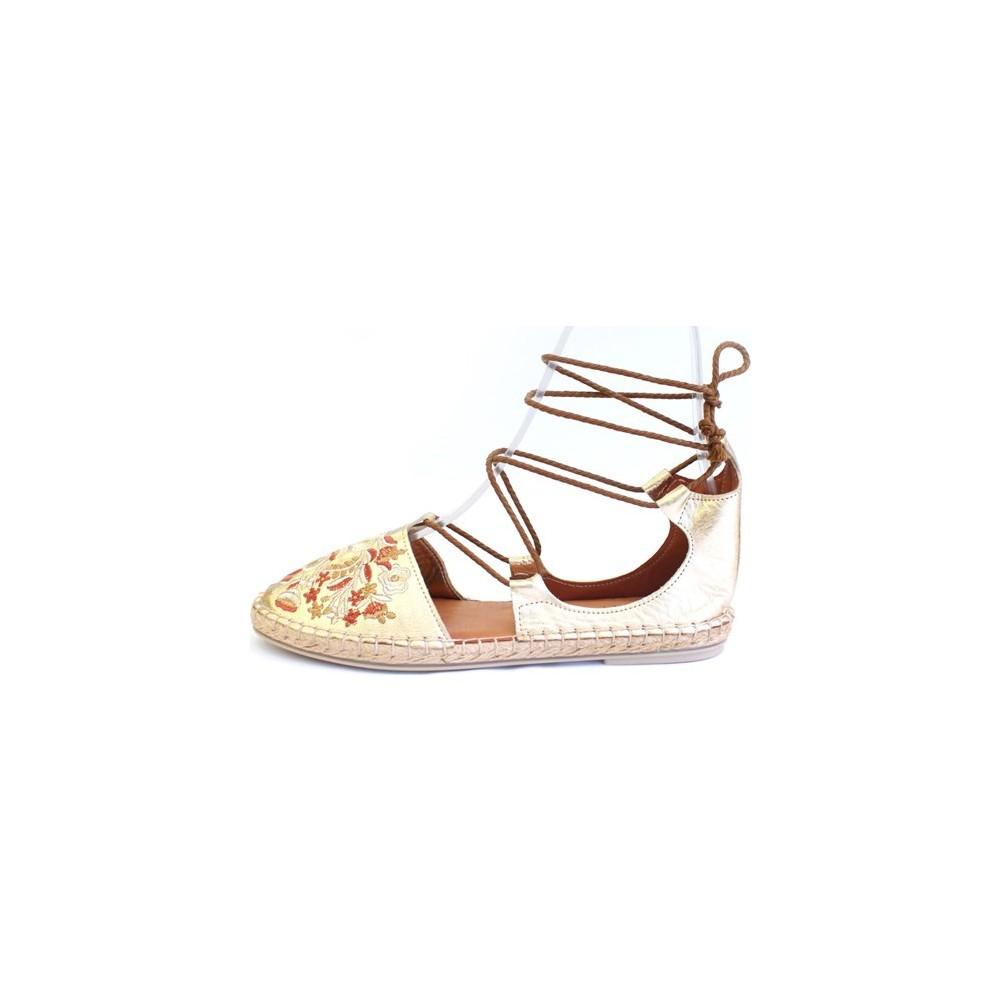 Shop And Shoes 100-7628 Altın Kadın Sandalet