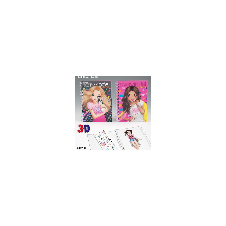 Top Model 3d Boyama Kitabi Dk07857 1 Gri Fiyati