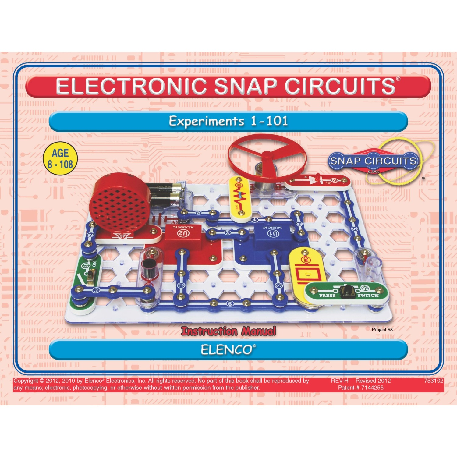 Elenco Snap Circuits Tt Devreler 100 Deney Fiyat Electronic Circuit