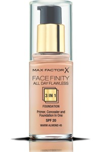 Max Factor Face Finity Primer, Concealer and Foundation 45