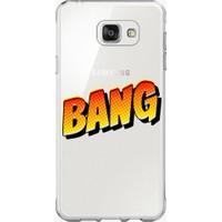 Remeto Samsung Galaxy A7 2016 Bang Yazılı Şeffaf Silikon Kılıf