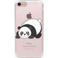 Remeto Apple iPhone 5/5S/5Se Şirin Panda Resimli Şeffaf Silikon Kılıf