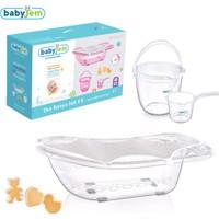 Baby Jem Bebek Banyo Seti 5 Parça Beyaz