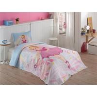 Örtüm Pink Girl Tek Kişilik Pembe Kapitoneli Yatak Örtüsü