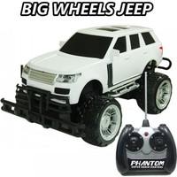 Sunman 1:14 Kumandalı Büyük Tekerli Beyaz Jeep