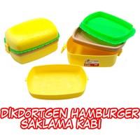 Akay Dikdötgen Hamburger Beslenme Kabı