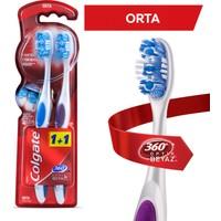 Colgate Diş Fırçası 360° Optik Beyaz Orta 1+1
