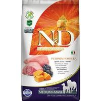N&D Pumpkin Tahılsız Bal Kabaklı, Kuzu Etli Ve Yaban Mersinli Ufak Irk Yetişkin Köpek Maması 2.5Kg