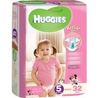 Huggies Kızım İçin Bebek Bezi Jumbo Paket 5 Beden 32 Adet