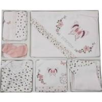 Bebitof Taşlı Kelebekli Kız Bebek Hastane Çıkışı 10 Parça Pembe