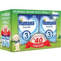 Humana 3 Devam Sütü 800 gr - 2'li