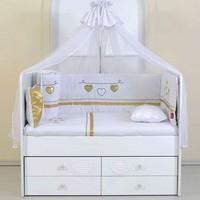 Aymini Nezrin Altın Bebek Odası Uyku Seti