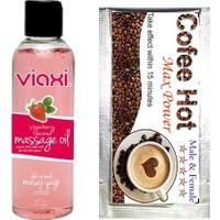 Viaxi Çilek Aromalı Masaj Yağı + Coffe Hot Afrodizyak Aşk Kahvesi