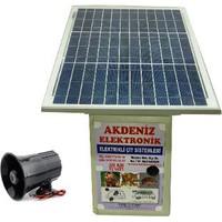 Sirenli Solar Güneş Enerjili Elektrikli Çit Sistemi