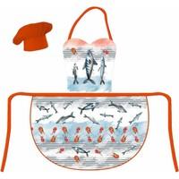 Maison M MAS1021 Fish Marine Desen Önlük Seti
