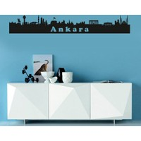 Freya Ankara Silüeti Duvar Stickerı