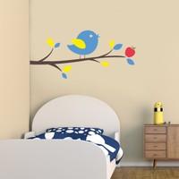 Freya Dalda Öten Kuş Duvar Stickerı