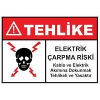 Oracal Elektirik Çarpma Riski Uyarı Levhası (35*50Cm)