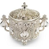 Fidex Home Gümüş Kapaklı Şekerlik