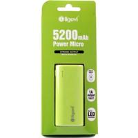 Ligovi 5200 mAh Power Micro Taşınabilir Şarj Cihazı - Yeşil