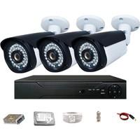 Promax Pro236 3'lü 3 Megapiksel Lens 1080P Aptina Sensör Güvenlik Kamerası Seti