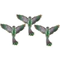 Uçan Kuş Duvar Süsü 3 lü Yeşil