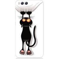Teknomeg Xiaomi Mi6 Kara Kedi Baskılı Silikon Kapak Kılıf