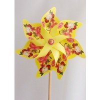 Polin Garden Rüzgargülü Çap: 46Cm Çiçek Baskılı Polingarden ( Sarı )