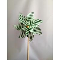 Polin Garden Rüzgargülü Çap: 35Cm - Yeşil Puantiyeli - Pol 12