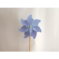 Polin Garden Rüzgargülü Çap:35Cm Mavi Puantiyeli Pol 12