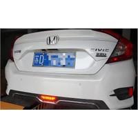 Honda Civic Fc5 Difüzor Işıklı Krom Model Siyah