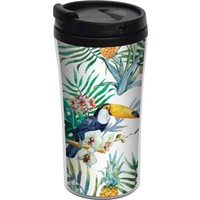 ALLMUG İç-Dış Plastik Termos-Tropical Birds