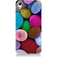 Teknomeg Htc Desire 626 Renkli Taşlar Seni Seviyorum, Desenli Silikon Kılıf