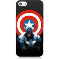Teknomeg Apple iPhone 5S Kaptan Amerika Desenli Silikon Kılıf