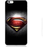 Teknomeg Apple iPhone 6S Superman Logo Desenli Silikon Kılıf